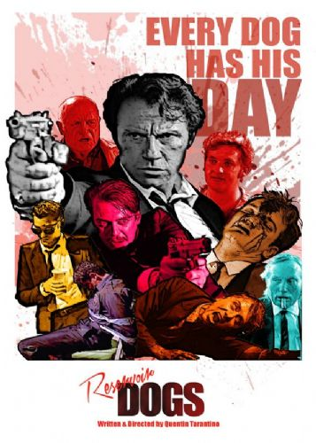 1990's Movie - RESERVOIR DOGS - COLOUR MURAL P2 / canvas print - self adhesive poster - photo print